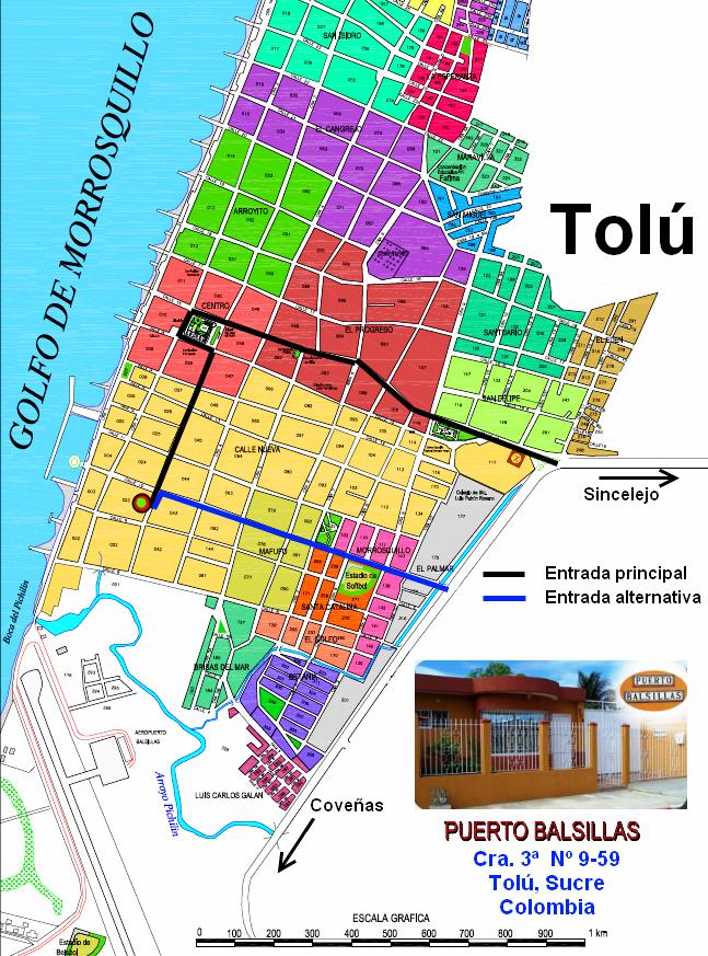 Mapa Plano de Tolú