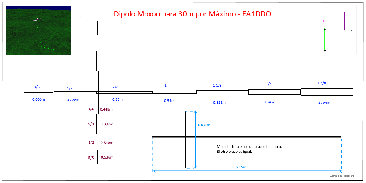 Dipolo Rigido Moxon v3